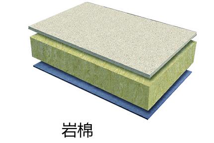 天然石材+岩棉+水泥压力板