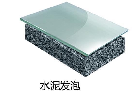 玻璃板+水泥发泡