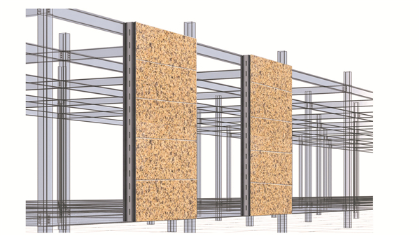 仿花岗岩钢混结构装配式墙板